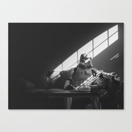 Stormtrooper Thoughts (B&W) Canvas Print