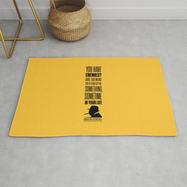 Lab No. 4 - Winston Churchill Inspirational Quotes Poster Rug