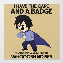 Cape and Badge Canvas Print