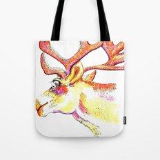 Holdiday drawings : Reindeer Tote Bag