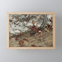"""Autumn Fairies"" by Arthur Rackham Framed Mini Art Print"