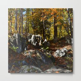 Hiking thru the Piers Gorge Metal Print