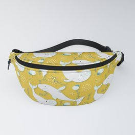 Beluga Whale Mustard #homedecor Fanny Pack