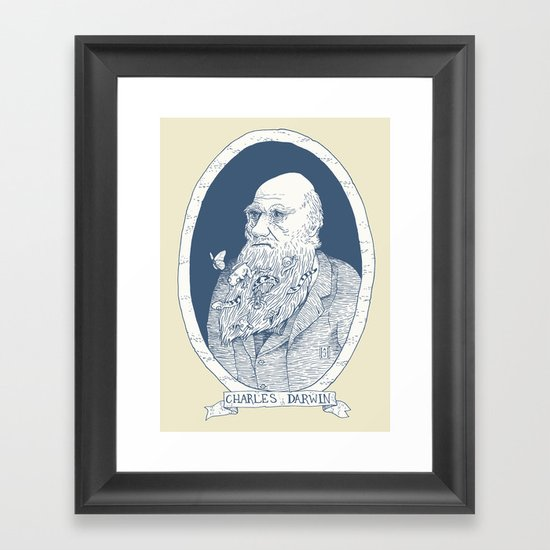 By Darwin's Beard Framed Art Print