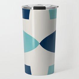 Alhambra Motif Blue Palette Travel Mug