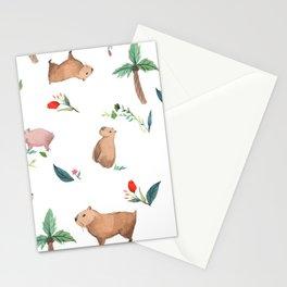 Capybara Stationery Cards