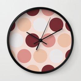 Ms Ruby Rouge Polka Dots Wall Clock
