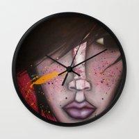 butcher billy Wall Clocks featuring BILLY by Sandra Mucciardi