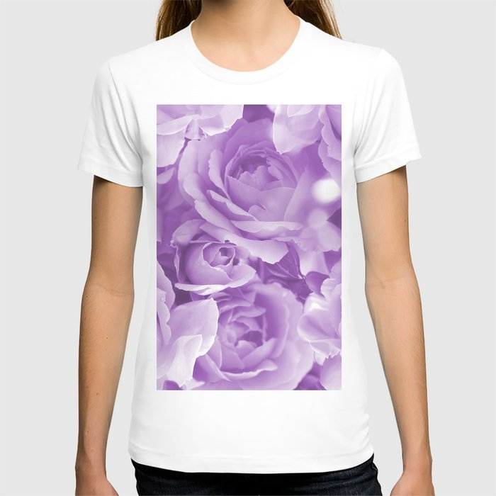 Violet Rose Bouquet For You - Valentine's Day #decor #society6 #homedecor T-shirt