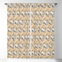 Fluffy Alpaca Herd Blackout Curtain