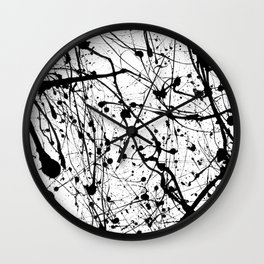 Splat! 3 (Cookies And Cream) Wall Clock