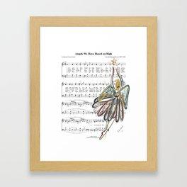 Illustrated Christmas Sheet Music Framed Art Print