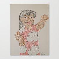 lilo and stitch Canvas Prints featuring Lilo by Julia