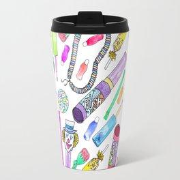 Neon 80's 90's Retro Funny Candy Pattern Travel Mug