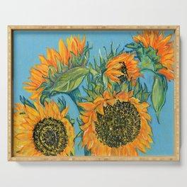 Birthday Sunflowers Serving Tray