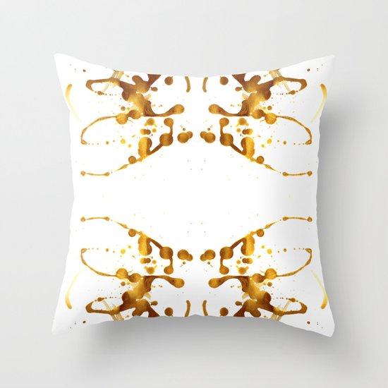 Symmetria Gold 1 Throw Pillow