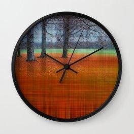abstract autumn Wall Clock