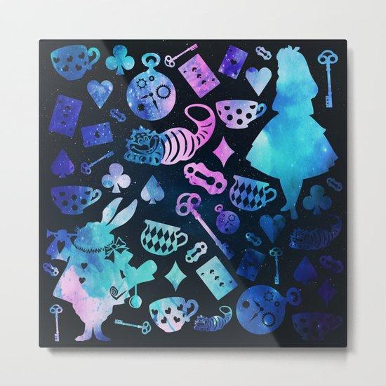 Alice in Wonderland - Galaxy Metal Print