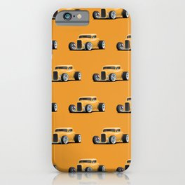 Classic American 32 Hotrod Car Illustration iPhone Case