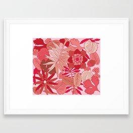 Botanic in Rose Framed Art Print