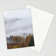 Rain clouds sweeping through the mountains near Blea Tarn. Cumbria, UK. Stationery Cards