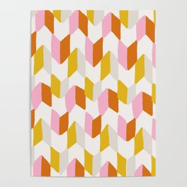 delilah, chevron pattern Poster