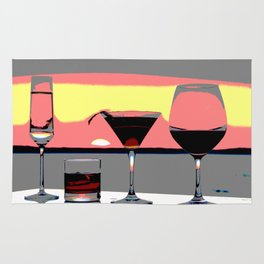 Cocktail Hour Sunset Rug