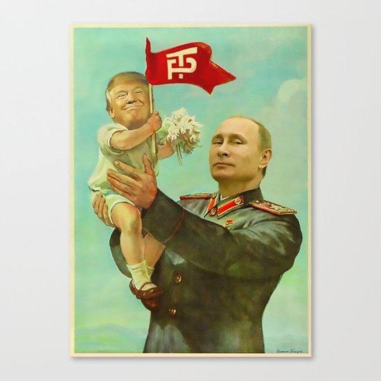 Trump Putin Canvas Print