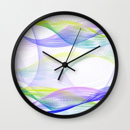 Background with colorful lines Wall Clock