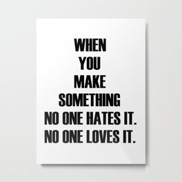 Hate & Love  Metal Print