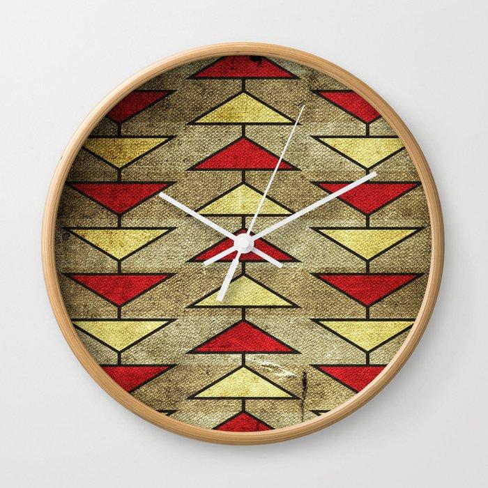 Navajo Arrows Wall Clock
