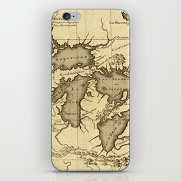 Great Lakes Map - 1737 iPhone Skin