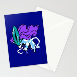 Suicune pixel art Stationery Cards