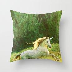 Horsey Business. Throw Pillow