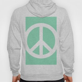 Peace (White & Mint) Hoody