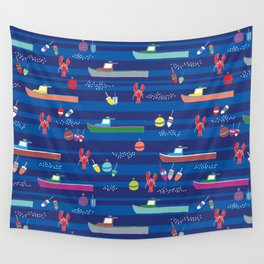 Lobster Boats Wall Tapestry