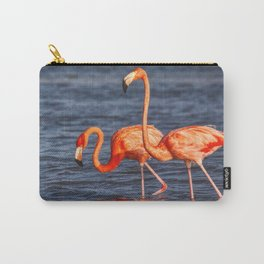 Two Pink Flamingos in Mexico Carry-All Pouch
