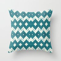 mustang Throw Pillows featuring Mustang Sally by Bunhugger Design