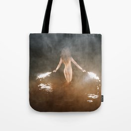 Fire Swim With Me Tote Bag