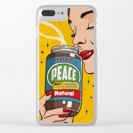 Instant Peace Clear iPhone Case
