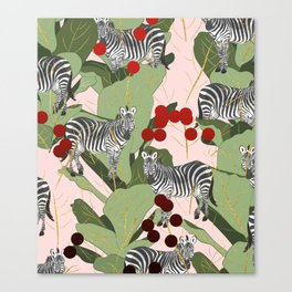 Zebra Harem #society6 #decor #buyart Canvas Print