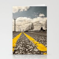 road Stationery Cards featuring Road by Color and Patterns