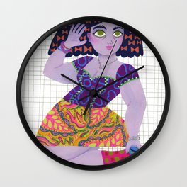 Bow Girl Wall Clock