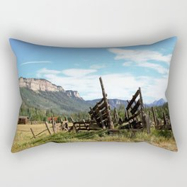 Time Weary Corral at the Haviland Lake Turnoff Rectangular Pillow