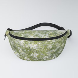 Tiny White Flora Fanny Pack