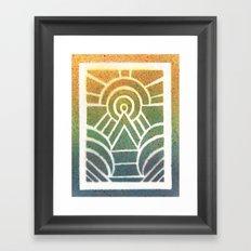 Drawing Meditation: Stencil 2 - Print 1 Framed Art Print