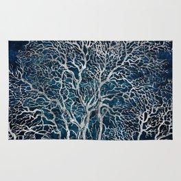 Midnight Silver tree - Wallnut Rug
