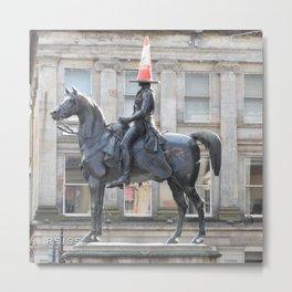 Scottish Photography Series (Vectorized) - Duke of Wellington Statue Glasgow #2 Metal Print