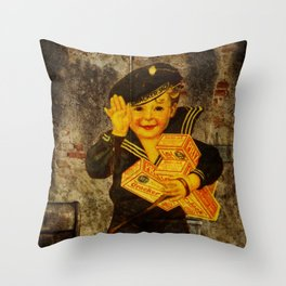 Cracker Jacks Throw Pillow