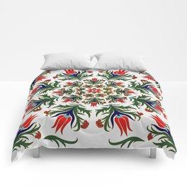 Turkish tulip - Ottoman tile 1 Comforters